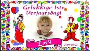 Zoey first birthday banner