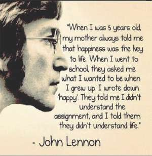 Fridge magnet of a quote by John Lennon