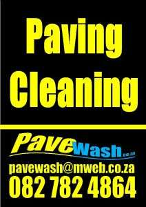 Yellow on black colur paving cleaning flyer