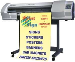 Roland SP300V large format printer we use